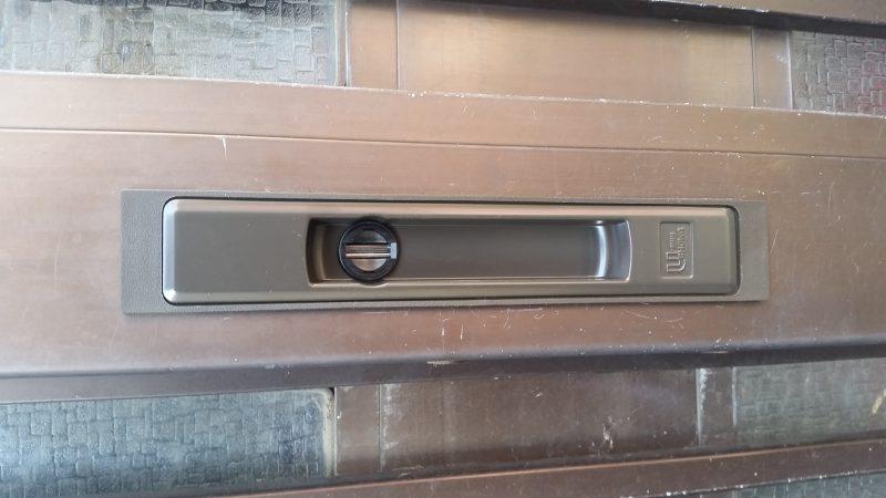 引き違い錠のカギ交換作業
